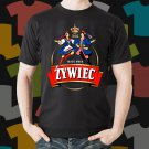 New Zywiec Beer Promo Brewery Black T-Shirt Tee Size S - 3XL