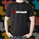 New Almost Skateboard Logo Extreme Sport Black T-Shirt Tee Size S - 3XL