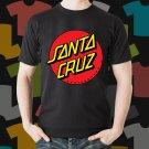 New Santa Cruz Skateboard Logo Extreme Sport Black T-Shirt Tee Size S - 3XL