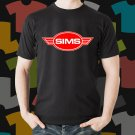 New Sims Skateboard Logo Extreme Sport Black T-Shirt Tee Size S - 3XL