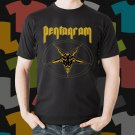 New Pentagram Rock Band Logo Black T-Shirt Tee Size S - 3XL