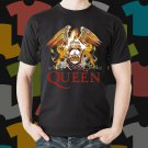 New Queen Rock Band Logo Black T-Shirt Tee Size S - 3XL