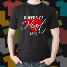 New Queens Of Heart Rock Band Logo Black T-Shirt Tee Size S - 3XL