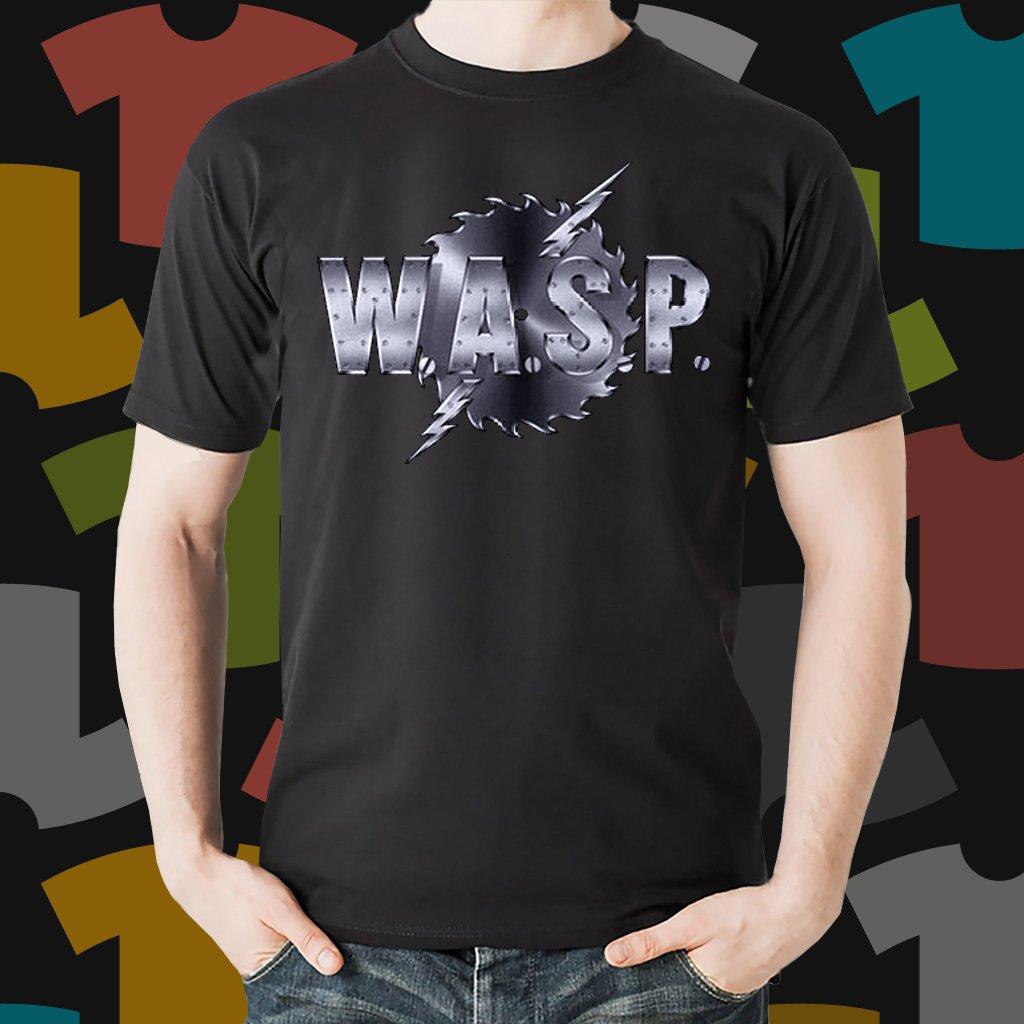 New WASP 1 Rock Band Logo Black T-Shirt Tee Size S - 3XL