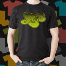New Yes Rock Band Logo Black T-Shirt Tee Size S - 3XL