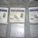 lot of 3 Adjustable post Anchor For use with 4 x 4 post