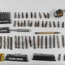 LOT OF 85 MISC TORX DRIVER BITS, NUTSETTERS ATTACHMENTS