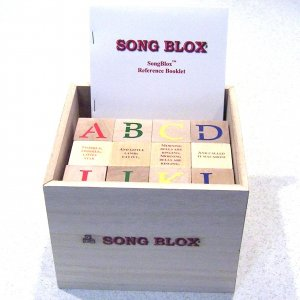 SongBlox - 36 Wooden Alphabet Blocks - 31 Classic Childrens Songs