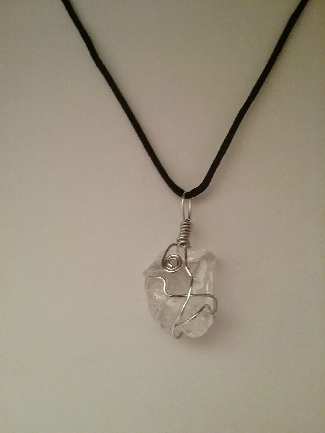 Silver Wire Wrapped Sea Glass Pendant (#CSG-SW-8)