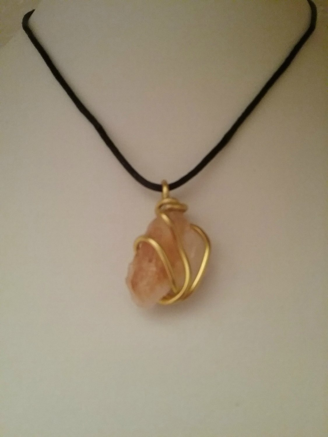 Gold Wire Wrapped Citrine Crystal (#CITR-44)