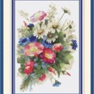 Cross-Stitch Embroidery Color PATTERN DMC thread codes - Beautiful Wild Flowers