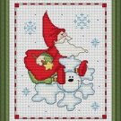 Cross-Stitch Embroidery Color Pattern with DMC thread codes - Christmas Elf