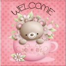 Beautiful Decor Design Collectible Kitchen Fridge Magnet - Cute Cup Teddy Bear