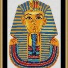 Cross-Stitch Embroidery Color Digital Pattern w. DMC codes - Tutankhamun Mask
