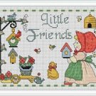 Cross-Stitch Embroidery Color Pattern with DMC codes- Little Friends Garden