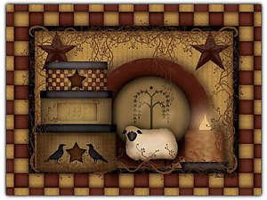 Primitive Country Folk Art Kitchen Refrigerator Magnet - Prim Country Life