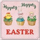 Cute Easter Collectible Kitchen Fridge Refrigerator Magnet ~ Sweet Cupcakes