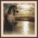 Cross-Stitch Embroidery Color PATTERN with DMC thread codes - Summer Horse