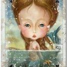Primitive Country Folk Art Kitchen Refrigerator Magnet ~ Fantasy Card Ladies #7
