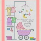 Cross-Stitch Embroidery Color Digital Pattern w. DMC codes - It's a Girl!
