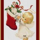 Cross-Stitch Embroidery Color Pattern DMC thread codes- Little Christmas Angel