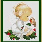 Cross-Stitch Embroidery Color Pattern DMC thread codes-Little Christmas Angel #2