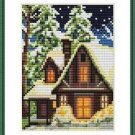 Cross-Stitch Embroidery Color Pattern with DMC codes - Christmas Cottage