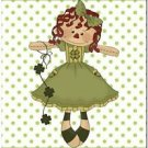 Cute St Patrick Collectible Kitchen Fridge Refrigerator Magnet - Raggedy Ann