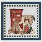 Cross-Stitch Embroidery Color Pattern with DMC codes - Raggedy Ann & Friends #2