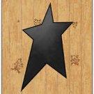 Primitive Country Folk Art Kitchen Refrigerator Magnet - Wood Pattern with Star