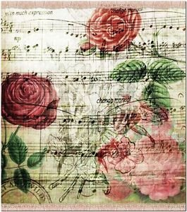 Beautiful Collectible Flower Kitchen Fridge Refrigerator Magnet -Roses Song