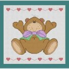 Cross-Stitch Embroidery Color Pattern with DMC codes -  Baby Toy Teddy Bear