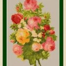Cross-Stitch Embroidery Color Pattern with DMC codes Victorian Garden Flowers #2