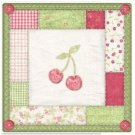 Beautiful Cute Decor Design Collectible Kitchen Fridge Magnet - Patchwork Cherry