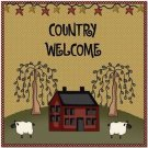 Primitive Country Folk Art Kitchen Refrigerator Magnet - Primitive Country House