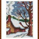 Cross-Stitch Embroidery Color Pattern DMC thread codes- Christmas Cozy House #2