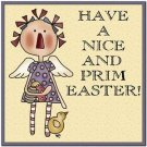 Cute Easter Collectible Kitchen Fridge Refrigerator Magnet - Prim Easter Angel