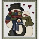 Cross-Stitch Embroidery Color Pattern with DMC thread codes-Country Christmas #3
