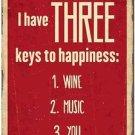 Beautiful Retro Decor Collectible Kitchen Fridge Magnet - Keys to Happiness