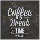 Primitive Country Folk Art Kitchen Refrigerator Magnet - Coffee Break Time