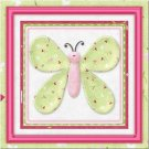 Primitive Country Folk Art Kitchen Refrigerator Magnet - Patchwork Butterfly