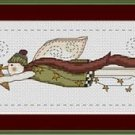 Cross-Stitch Embroidery Color Pattern with DMC thread codes - Snowman Angel #2