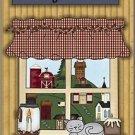 Primitive Country Folk Art Kitchen Refrigerator Magnet - Sit Long-Talk Much