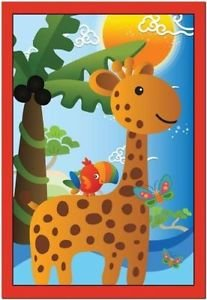 Primitive Country Folk Art Kitchen Refrigerator Magnet - Cute Zoo Animals