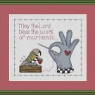 Cross-Stitch Embroidery Color Digital Pattern w. DMC codes - Stitching Blessing