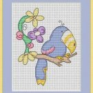 Cross-Stitch Embroidery Color Pattern with DMC codes - Sweet Tucan