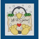 Cross-Stitch Embroidery Color Pattern DMC thread codes- Let it Snow!