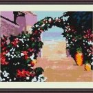 Cross-Stitch Embroidery Color Pattern with DMC thread codes - Greek Siesta