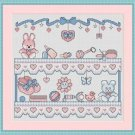Cross-Stitch Embroidery Color Digital Pattern w. DMC codes - Baby Girl's Room
