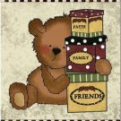 Beautiful Decor Design Collectible Kitchen Fridge Magnet - Country Teddy Bear #2